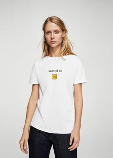 MANGO - Printed message t-shirt