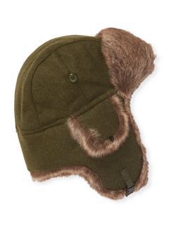 Qi Cashmere - Solid Trapper Faux Fur Hat