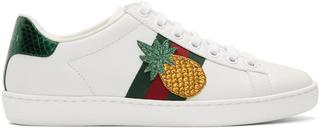 Gucci - White Pineapple Ace Sneakers
