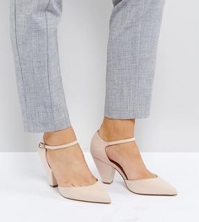 ASOS DESIGN - Speaker – Spitze Pumps in breiter Passform-Beige