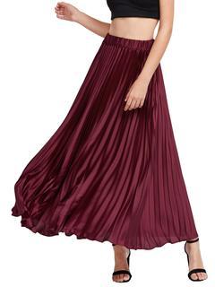 SheIn - Elastic Waist Pleated Skirt