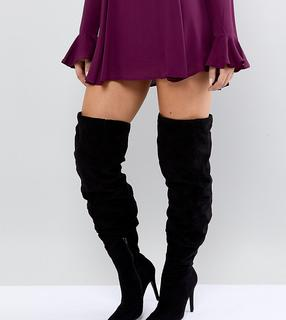 New Look Wide Fit - Thigh High Heeled Boot