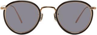 Eyevan 7285 - Gold and Black model 717 Sunglasses
