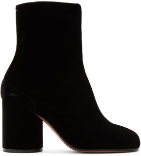 Maison Margiela - Black Velvet Tabi Boots