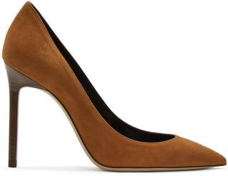 Saint Laurent - Tan Suede Anja Heels
