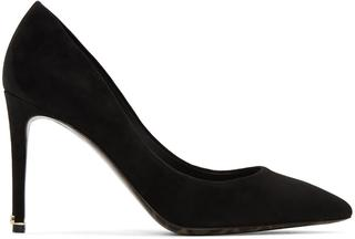 Dolce and Gabbana - Black Suede Kate Heels