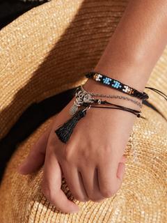SheIn - Pineapple & Tassel Charm Bracelet Set