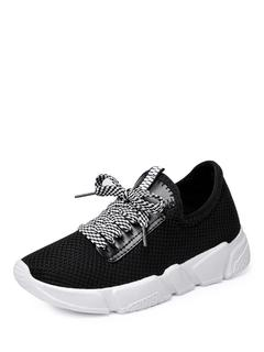 SheIn - Net Surface Lace Up Sneakers