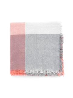 SheIn - Frayed Trim Grid Scarf