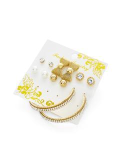 SheIn - Bow & Hoop Design Earring Set