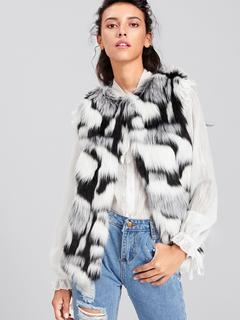 SheIn - Colorful Faux Fur Vest