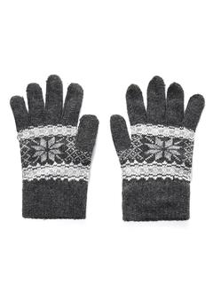 SheIn - Christmas Geometric Pattern Knit Gloves