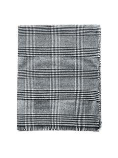 SheIn - Frayed Trim Houndstooth Scarf
