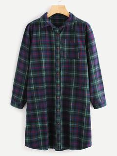 SheIn - Plaid Shirt Dress