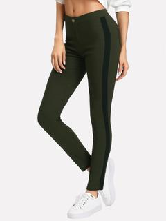 SheIn - Color Block Side Skinny Pants