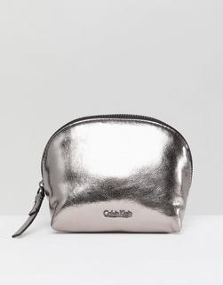 Calvin Klein - Metallic Make Up Bag - Silver