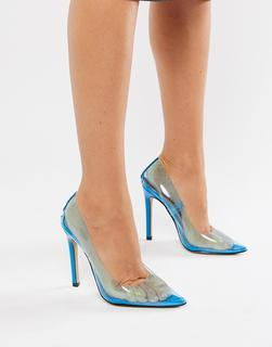 Public Desire - Extra clear court shoes in blue