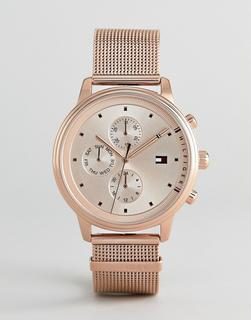 TOMMY HILFIGER - 1781907 – Chronograph mit Netzarmband in Roségold, 38 mm