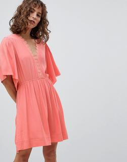 Suncoo - Skater Dress with Flutter Sleeve