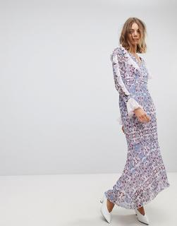 Vero Moda - paisley print maxi dress in purple