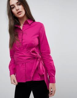 Vila - Hemd mit Wickeldesign-Rosa