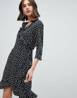 Vero Moda - Wickelkleid mit Print - Mehrfarbig