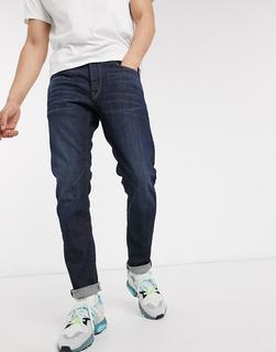 G-Star - D-Staq– Schmal geschnittene Jeans mit 5 Taschen und dunkler Waschung-Blau