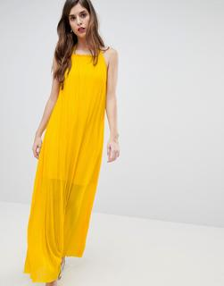 French Connection - Plisse Halter Maxi Dress