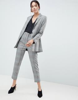 ASOS DESIGN - high waisted clean tapered in coloured check