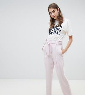 MANGO - wide tapered tailored trouser in lilac