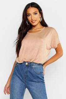 boohoo - Womens Basic Oversized T-Shirt - beige - 16, Beige