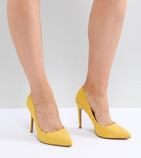 ASOS DESIGN - Paris Wide Fit pointed high heeled court shoes in yellow