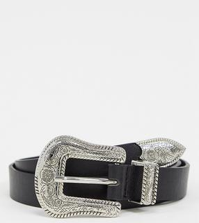 Glamorous - black western buckle waist and hip jeans belt
