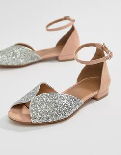 ASOS DESIGN - Lozzy Peep Toe Ballets