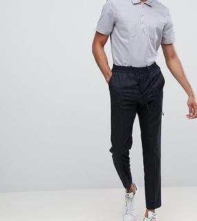 Selected Homme - Schmal zulaufende Hose mit elastischem Bund - Schwarz