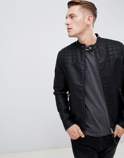 New Look - biker jacket in black