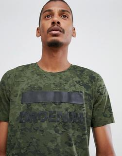 Dr Denim - Patrick – Grünes T-Shirt mit Logo