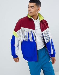 ASOS DESIGN - windbreaker with tassels in colour block