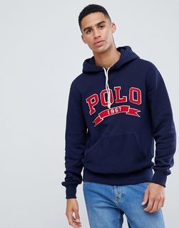 Polo Ralph Lauren - collegiate polo applique hoodie in navy