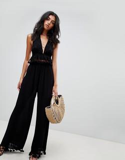 ASOS DESIGN - tassel trim beach co-ord trousers