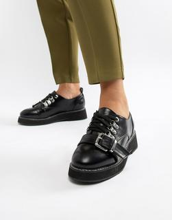 ASOS DESIGN - Mortice chunky hiker flat shoes