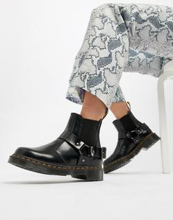 DR. MARTENS - Wincox Black Leather Harness Chunky Chelsea Boots