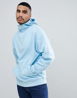 ASOS DESIGN - oversized hoodie with deep modesty v