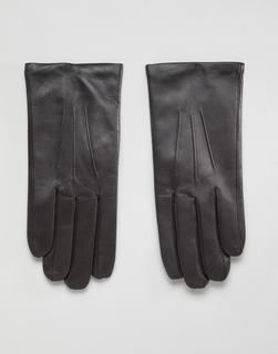 Dents - Bath leather gloves with cashmere lining - Brown