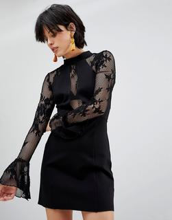 Free People - It's Now or Never Lace Sleeve Bodycon Dress