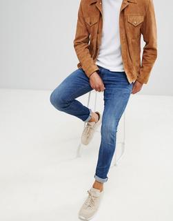 G-Star - 3301 deconstructed skinny fit jeans in medium indigo aged