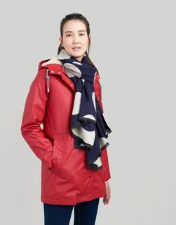 Joules Clothing - Navy Large Spot Jacquelyn Jaquard Scarf  Size One Size