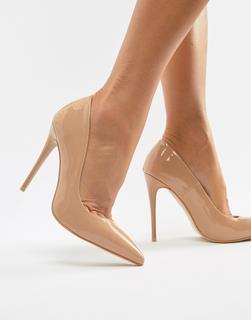 SIMMI Shoes - Simmi London Imani Coffee patent court shoes