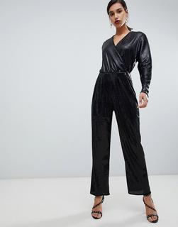 YAS - all over sequin wideleg jumpsuit