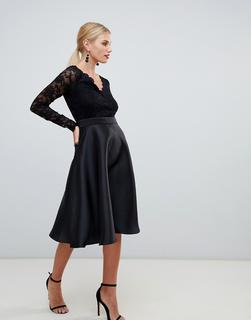 City Goddess - prom dress with lace sleeves